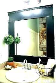 mirrors of bathroom mirror frame