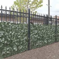Aleko 3 1 4 Ft X 7 3 4 Ft Faux Ivy Privacy Artificial Fence Screen 4scrn94x39indg Hd The Home Depot Outdoor Privacy Artificial Hedges Fence Screening