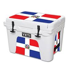 Mightyskins Protective Vinyl Skin Decal For Yeti Tundra 35 Qt Cooler Wrap Cover Sticker Skins Dominican Flag Learn More By Vi Cool Wraps Yeti Tundra Cooler