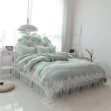 100 cotton lace edge girls bedding set