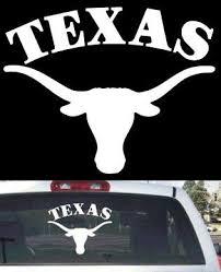 Texas Longhorns Big Rear Window Decal Sticker Decal Mymonkeysticker Com