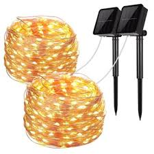 led solar fairy lights copper wire