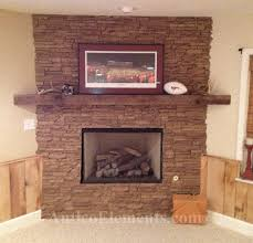 faux stone and brick panels
