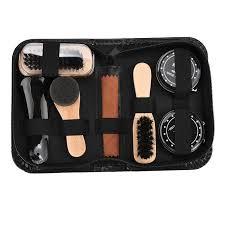 shine care kit polish cleaning brushes