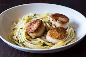 Pasta with Leeks and Scallops Recipe ...