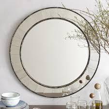 antique tiled round mirror