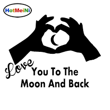 2020 Wholesale Car Sticker Romantic Heart Shaped Love You To The Moon Funny Suv Window Bumper Laptop Kayak Vinyl Decal From Bulangying 15 08 Dhgate Com