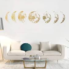 Amazon Com Moon Phases Creative Color Moon Phase Map Space Moon Wall Stickers Wall Decals Vinyl Sticker For Kids Baby Room Decoration Good Night Nursery Wall Decor Modern Home House Bedroom Design Home