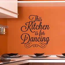This Kitchen Is For Dancing Vinyl Wall Decal Words Modern Etsy