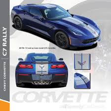 C7 Corvette Rally Racing Stripes Decals Chevy C7 Corvette 2014 2018 Premium Install And Supreme Install Speedycardecals Fast Car Decals Auto Decals Auto Stripes Vehicle Specific Graphics