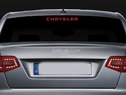 1 X Chrysler Sticker For Windshield Or Back Window Red Indecals Com
