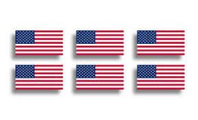 6 Mini Usa Flag Stickers Decal Patriotic American Cup Phone Tablet Tag Helmet Us Ebay