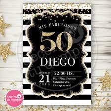 Kit Imprimible Adultos 40 50 60 Anos Negro Dorado Hombre 430