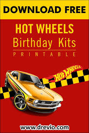 Free Printable Hot Wheel Birthday Party Kits Templates For Boys