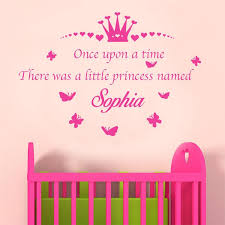 Personalised Once Upon A Time Princess Name Removable Kids Nursery Wall Sticker Ebay