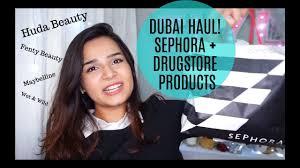 huge dubai makeup haul huda beauty