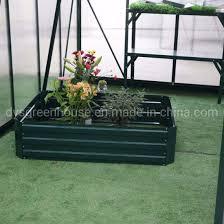 outdoor steel raised garden bed