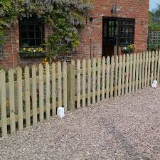 Picket Fence Panel Pointed Top Pressure Treated Free Delivery Available