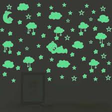 Cartoon Luminous Stars Bear Clouds Wall Sticker For Kids Baby Rooms Glow In The Dark Wall Decal Peel Stick Vinyl Diy Art Mural Aliexpress
