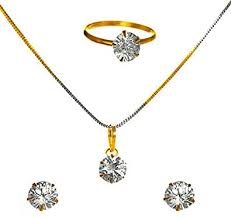 jewellery diamond and gold plated