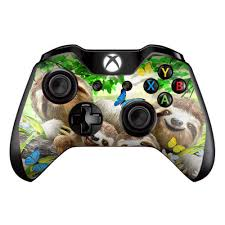 Amazon Com Sloth Family Selfie Skin Decal Vinyl Wrap For Microsoft Xbox One Controller Stickers Skins Cover Video Games