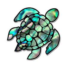 Sea Turtle Beautiful Pearl Design Large Size Vinyl Sticker Decal For Truck Car Cornhole Board Sticker 16 Walmart Com Walmart Com