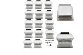16pack Bright White 2smdled Solar Powered Post Cap Fence Lights 4x4 Wood Post Discount Plus Inc