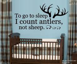 Decal To Go To Sleep I Count Antlers Not Sheep 5 20 X 40 Walmart Com