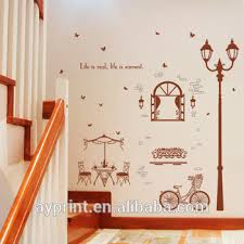 Sk9202 Leisure Cafe House Street Lamp Bicycle Wall Sticker Creativity Diy Home Bedroom Tv Background Hallway Wall Decal Buy Home Decor Lamp Wall Sticker Lamp Wall Decal Lamp Product On Alibaba Com