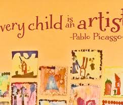 Every Child Is An Artist Design Wisedecor Wall Lettering