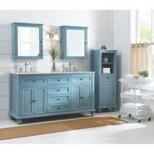 bath vanity in sea glass