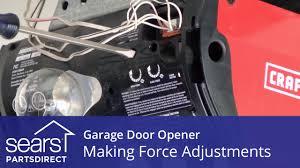 garage door won t open or close force