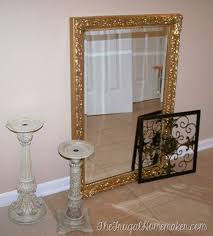 painting gold mirror frame silver