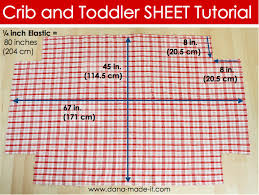 crib toddler bed sheet tutorial with