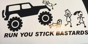 Run You Stick Bastards Funny Stickman Family Decal Sticker Bumper Window Truck Ebay