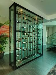 glass wine storage divider wall