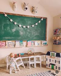 Diy Chalkboard Wall Tutorial For A Kids Playroom Life By Leanna
