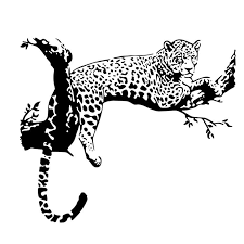 New Wild Large Leopard Animal Wall Sticker Tiger 48cm 80cm Wall Decal Art Mural Home Decor Black Color Wall Stickers Aliexpress