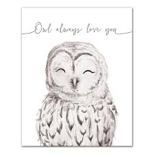 Designs Direct Owl Always Love You Canvas Wall Art In Grey Bed Bath Beyond