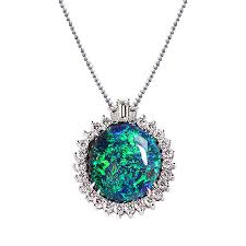 rare black opal pendant jewelry designs