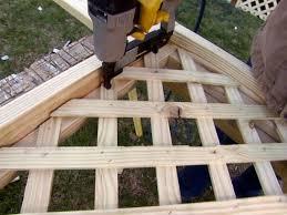 Installing Deck Lattice How Tos Diy