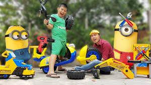 Trò Chơi Bé Sửa Xe Minions ❤ ChiChi ToysReview TV ❤ Đồ Chơi Trẻ Em Bài Hát  PaPa Cho Bé - YouTube