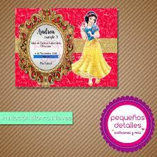 Invitaciones Digitales Blanca Nieves 50 00 En Mercado Libre