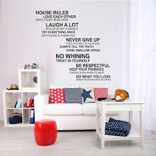 Shop Walplus House Rule English Quote Wall Art Sticker Home Diy Decor Decal Overstock 31770436