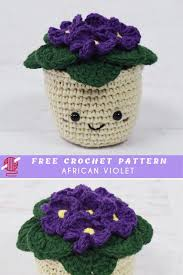 lovely african flowers crochet pattern