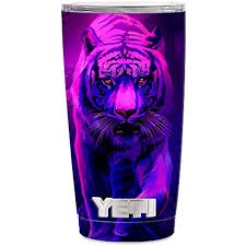 Skin Decal Vinyl Wrap 5 Piece Kit For Yeti 20 Oz Rambler Tumbler Stickers Skins Cover Cup Tiger Prowl Pink Purple Neon Jungle Walmart Com Walmart Com