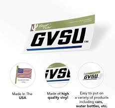 Grand Valley State University Gvsu Lakers Ncaa Vinyl Decal Laptop Water Bottle Car Scrapbook State Boarder Sticker Fan Shop Auto Accessories