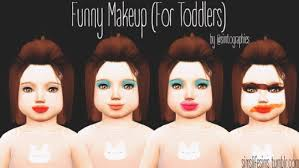 funny makeup for toddlers by sims