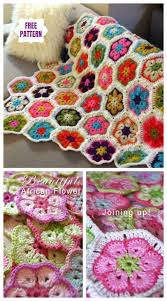 crochet african flower blanket free