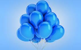 تحميل خلفيات البالونات خلفية زرقاء عريضة 2560x1600 جودة عالية